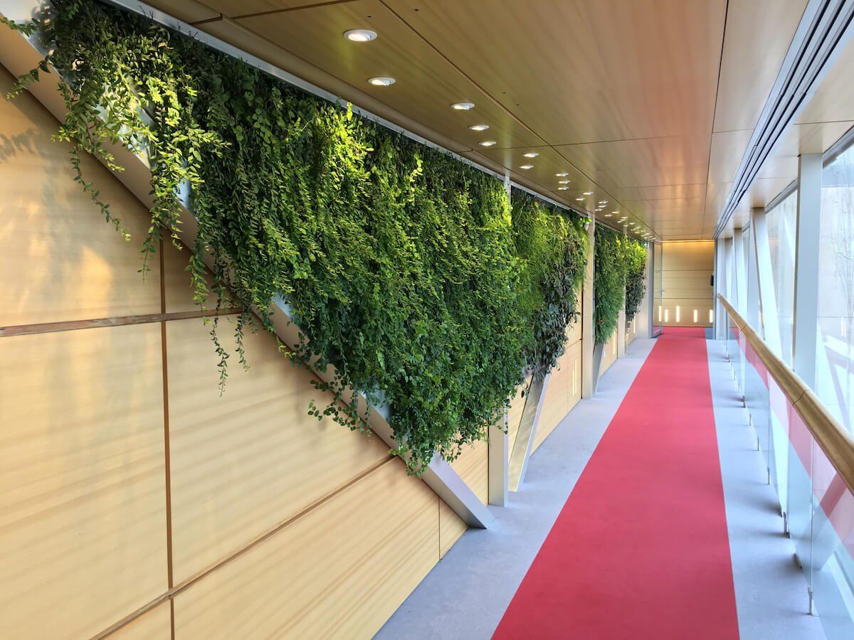 couloir de Ministère des Finances avec un Mur Végétal