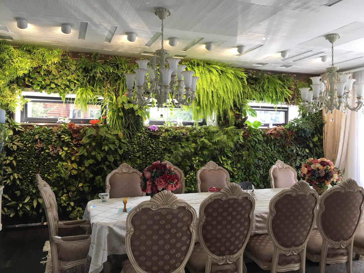 Mur végétal de Neogarden dans une datcha pas loin de Moscou