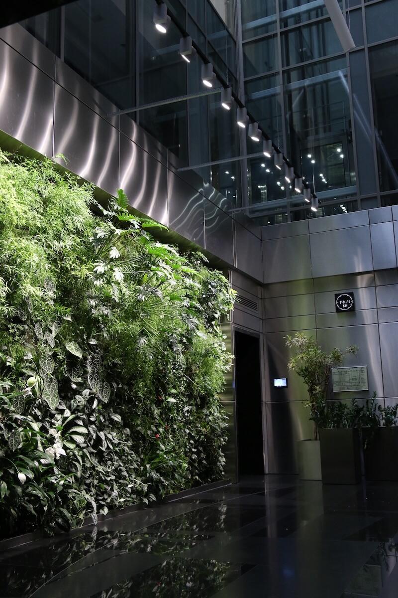 mur végétal en Russie dans une Centre d'affaire