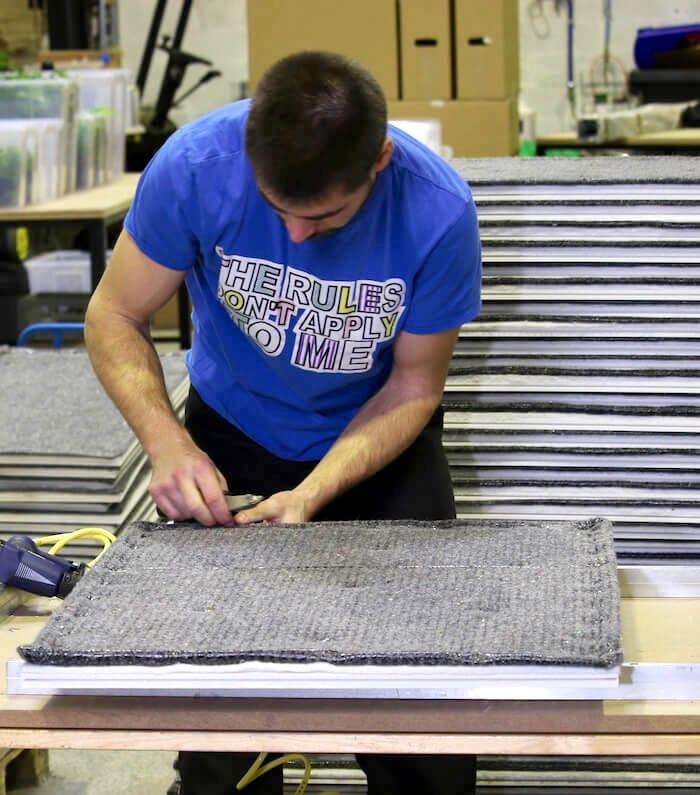 fabrication du materiel pour le mur vegetal