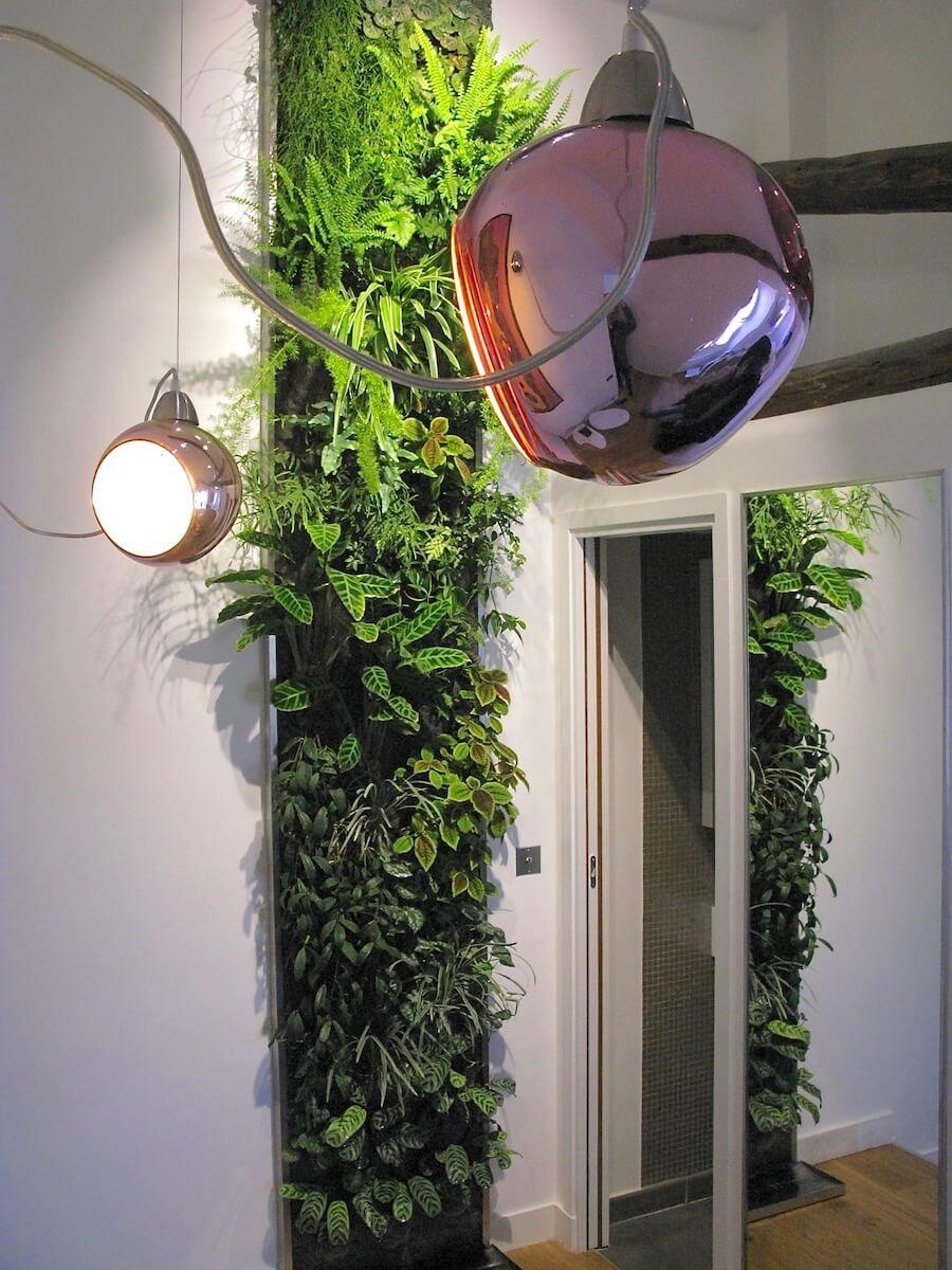 mur végétalisé de 4m de hauteur réalisé chez un particulier