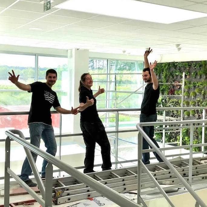 mur végétal créé par l'equipe de Neogarden