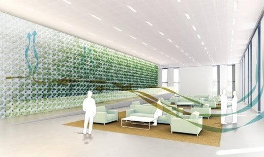 mur végétal dépolluant - mécanisme de biofiltration de l'air polluant
