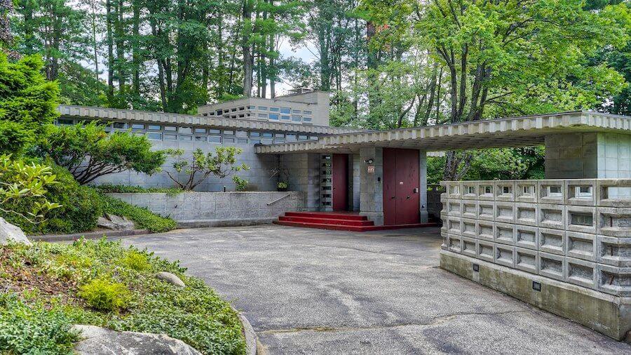 maison dessiné par Frank Lloyd Wright