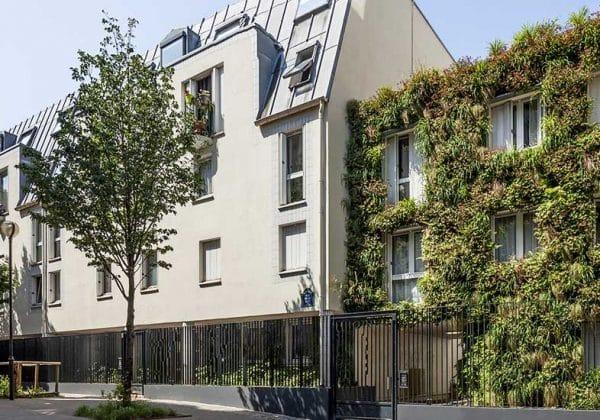 isolation sonore avec une façade vegetalisé