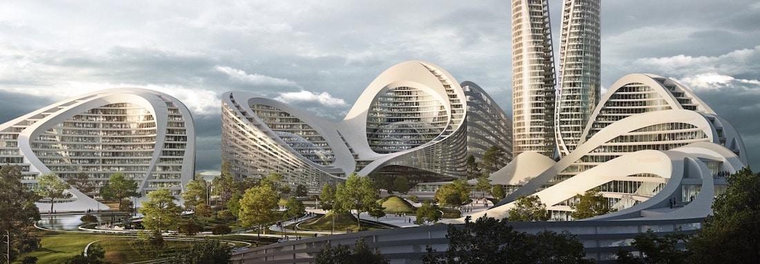 Architecture futuriste pas Zaha Hadid