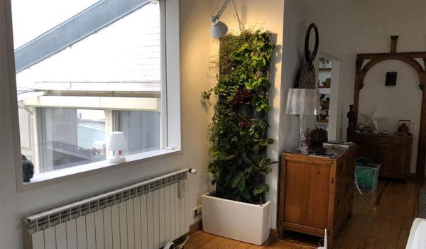 kit okked installé dans un salon d'un appartement