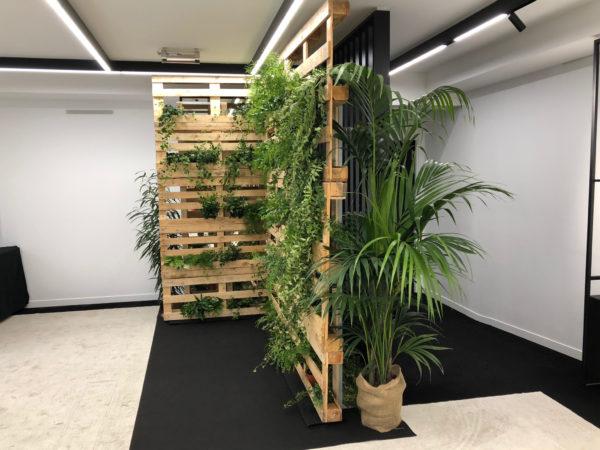 location d'un mur végétal