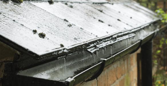 récupération d'eau de pluie de toit